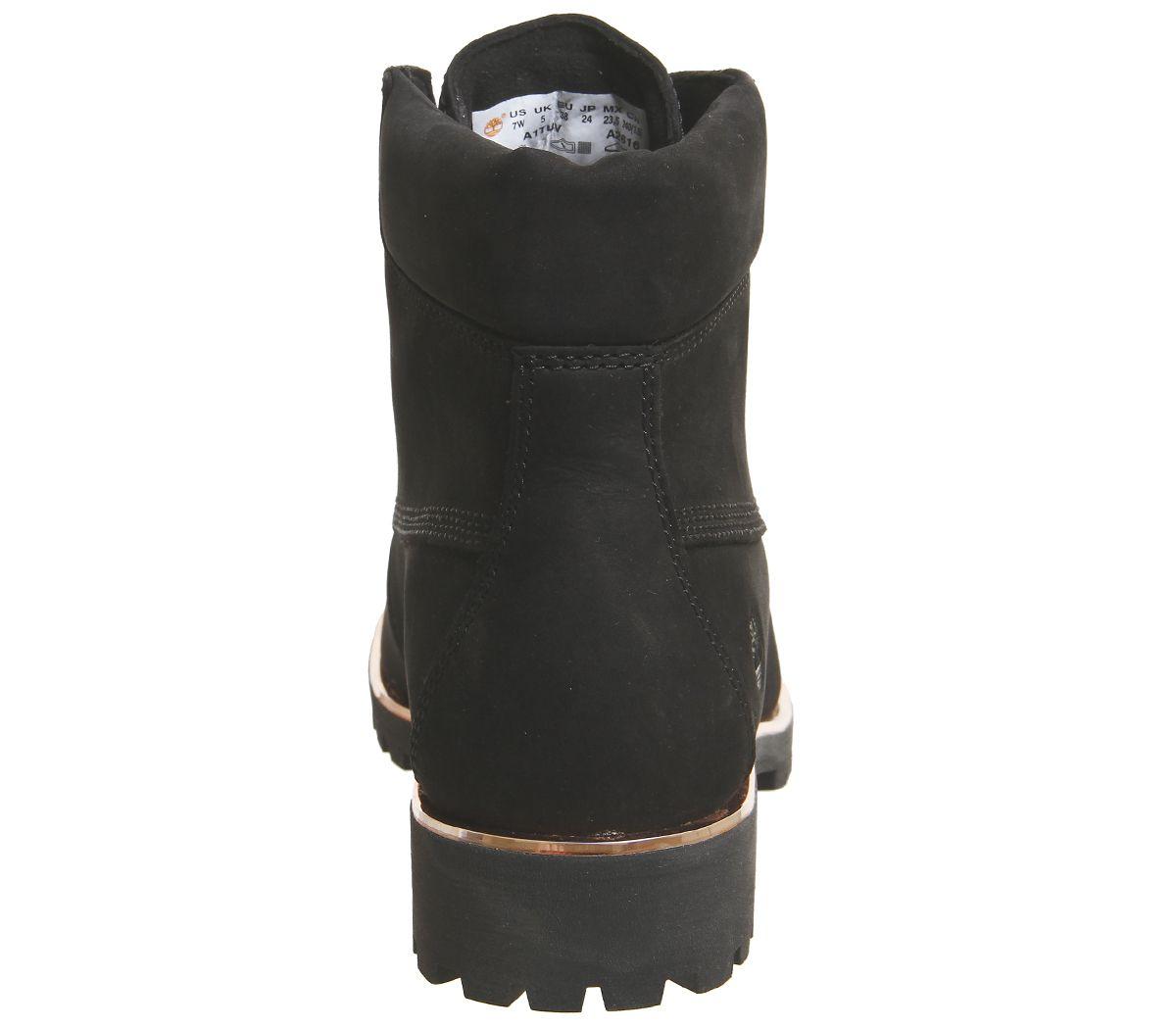 Détails sur Femmes timberland Slim Premium 15.2cm Bottes Noir or Rose Bord Bottes
