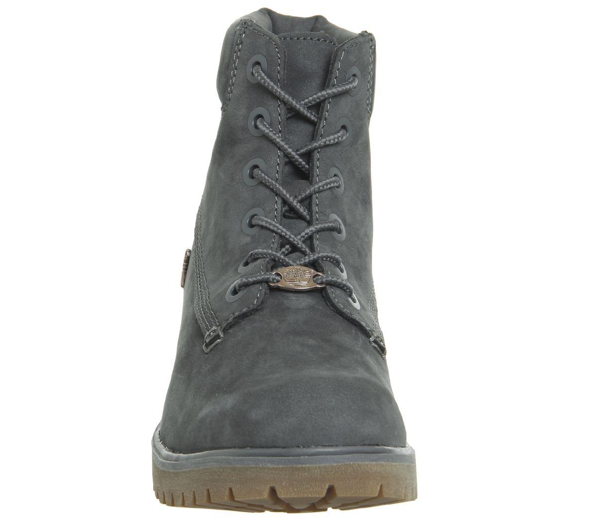 64bb0510c5c Womens Timberland Slim Premium 6 Inch Boots Forged Iron Nubuck Boots ...