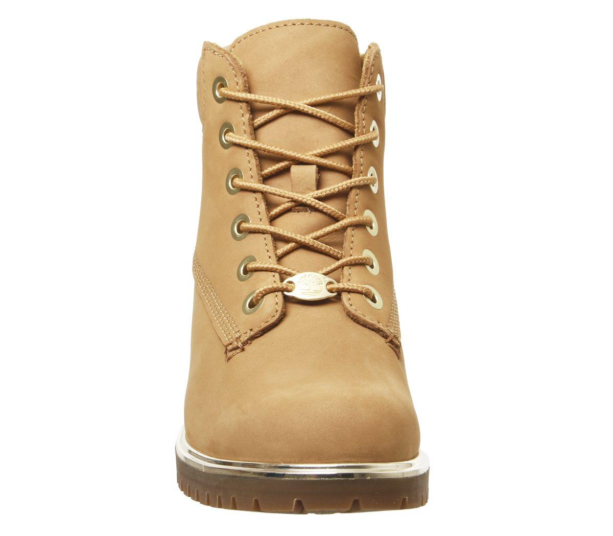 Details zu Womens Timberland Slim Premium 6 Inch Boots Wheat Gold Rand Boots