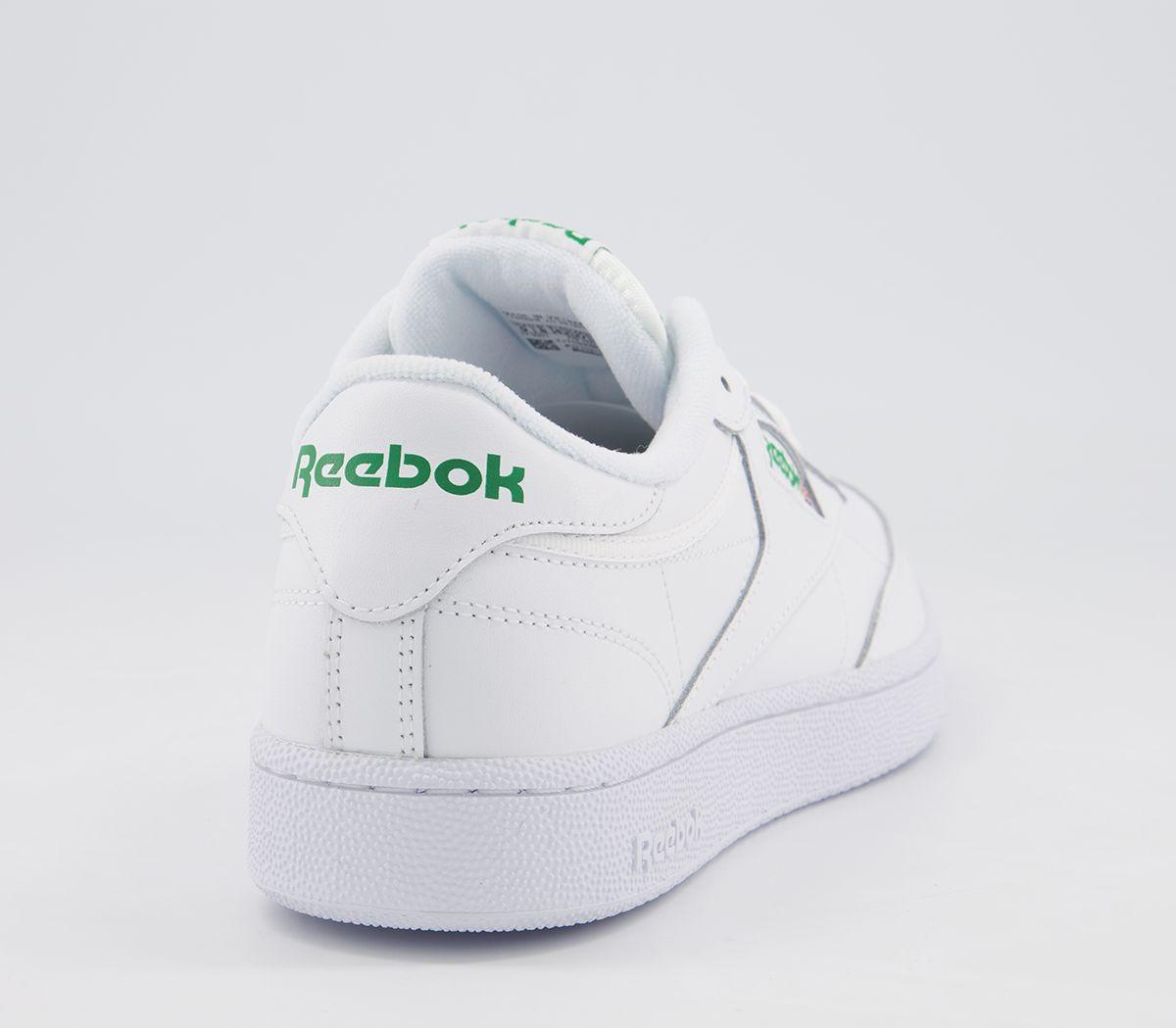 Reebok-Club-85-Bianco-Verde-C-Sneakers miniatura 9