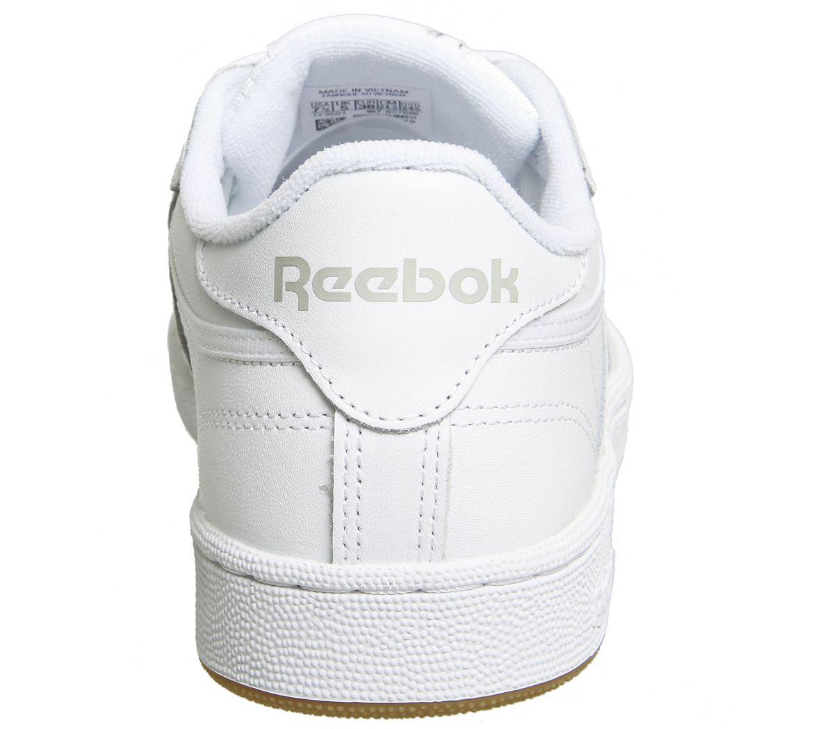 Haut-femme-Reebok-Club-C-85-Baskets-Gris-Blanc-Gomme-Baskets-Chaussures miniature 10