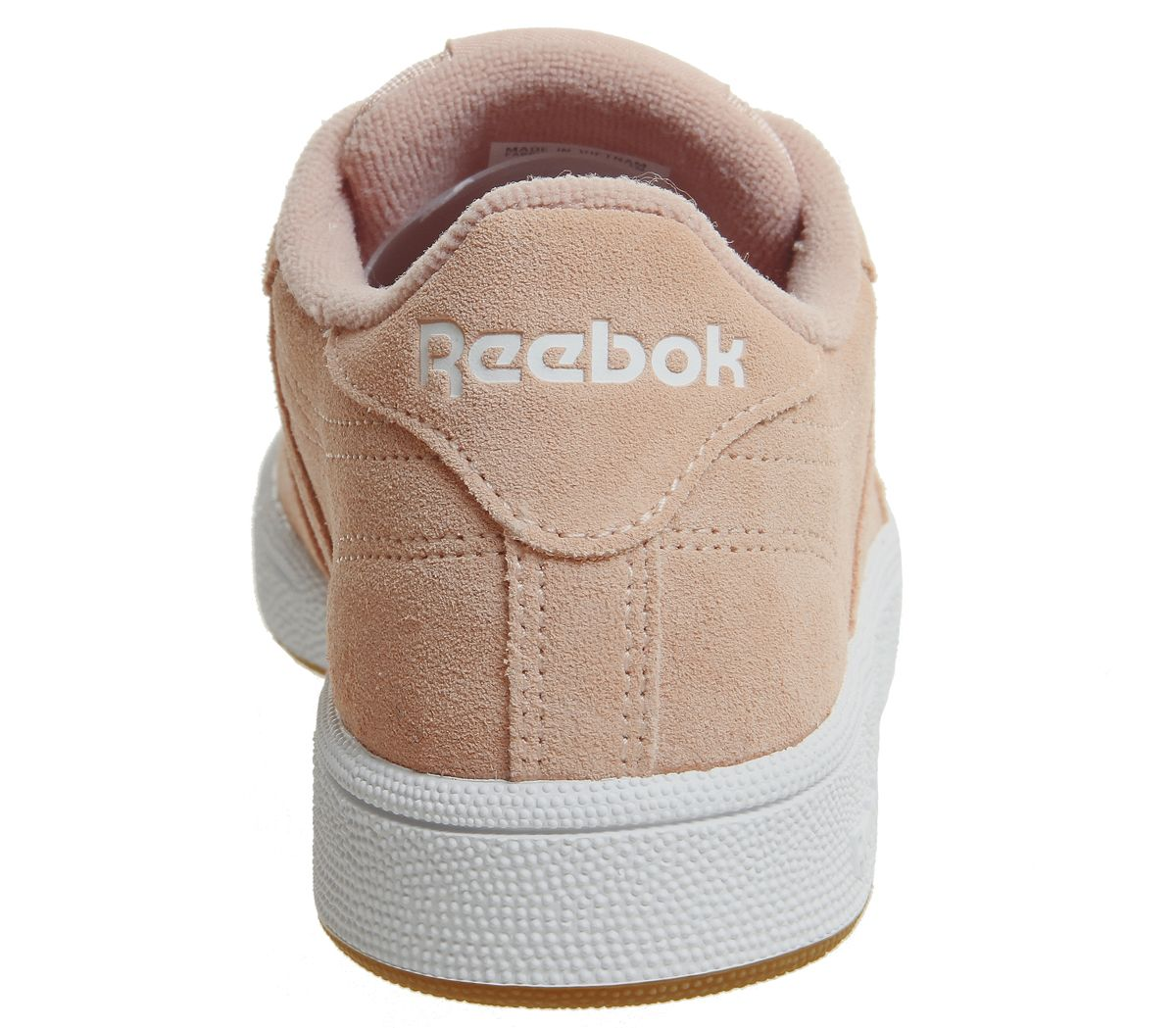 ed7761d02830 Womens Reebok Club C 85 Trainers Peach Twist White Gum Trainers ...