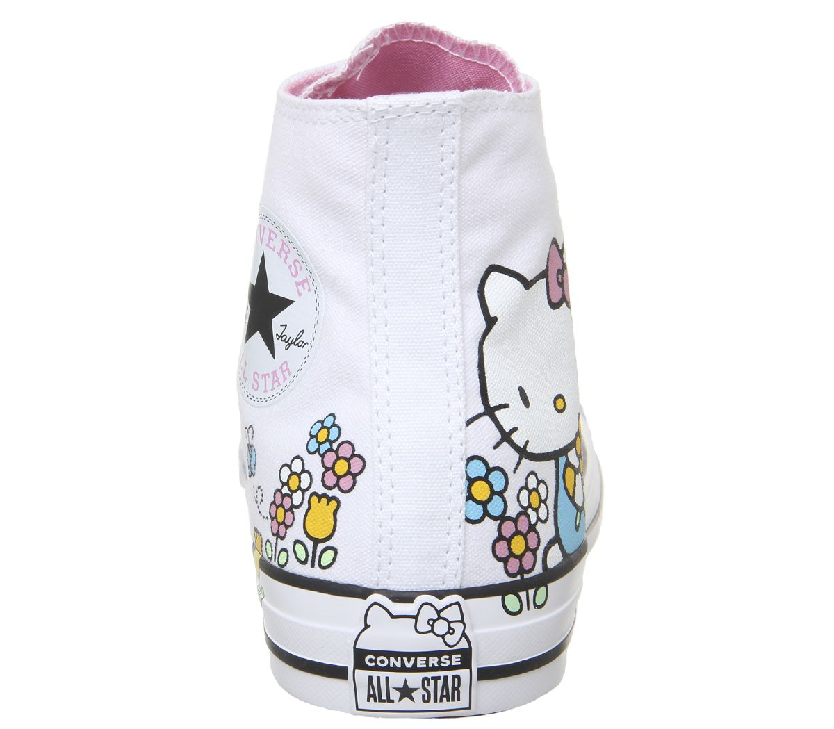 d7b6d5d0f57fc Sentinel Womens Converse Converse All Star Hi Trainers Hello Kitty White  Trainers Shoes