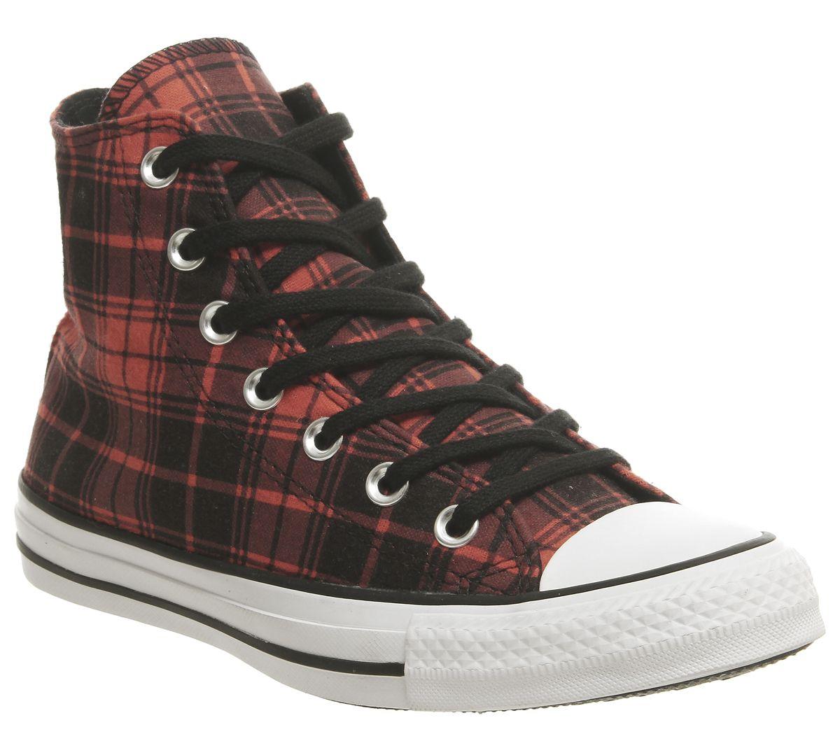 3b88c9563982a8 Sentinel Mens Converse Converse All Star Hi Trainers Bright Poppy Black  Trainers Shoes