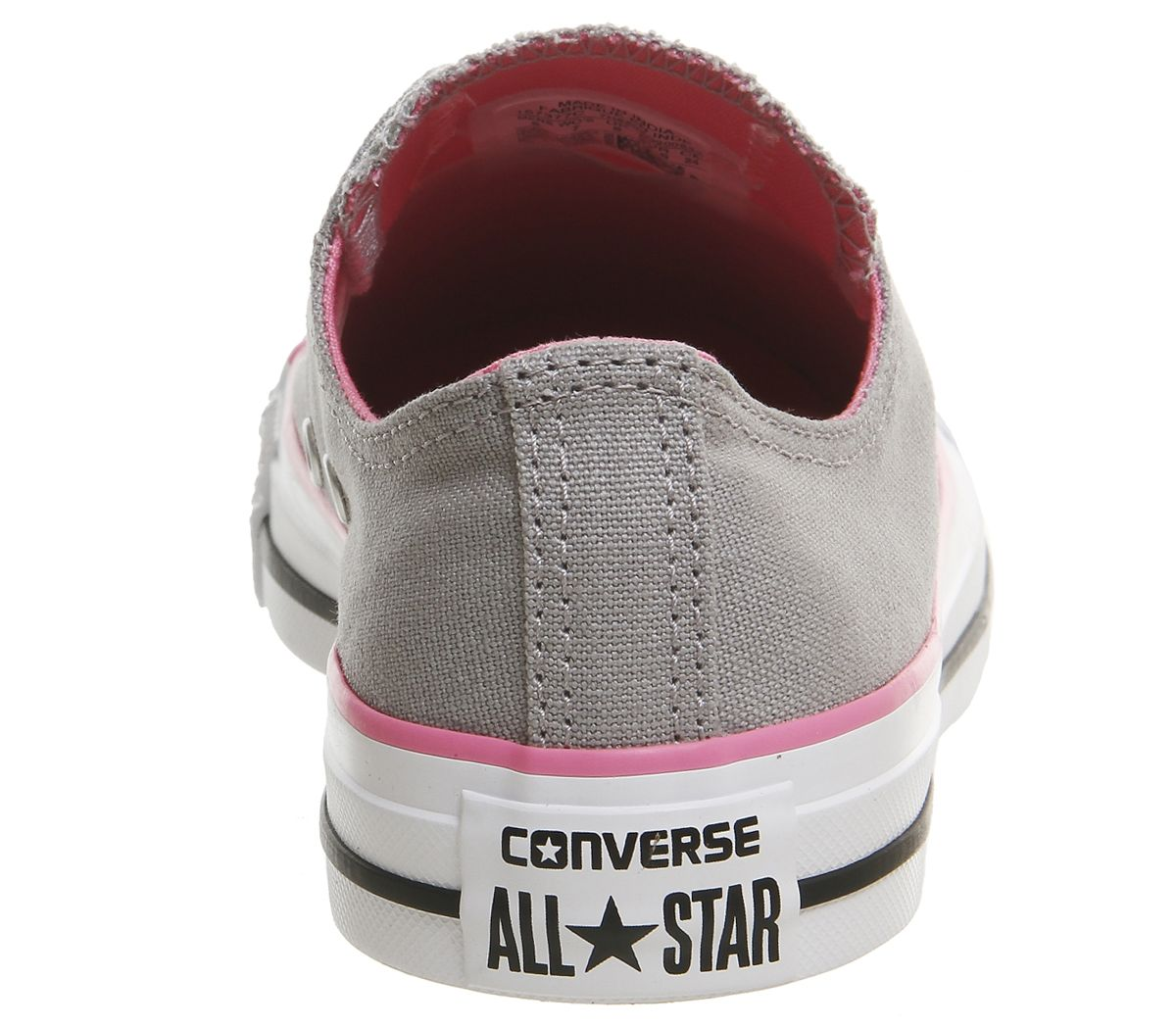 d59edf3f01d5 Sentinel Womens Converse Converse All Star Low Trainers Grey Pink Trainers  Shoes