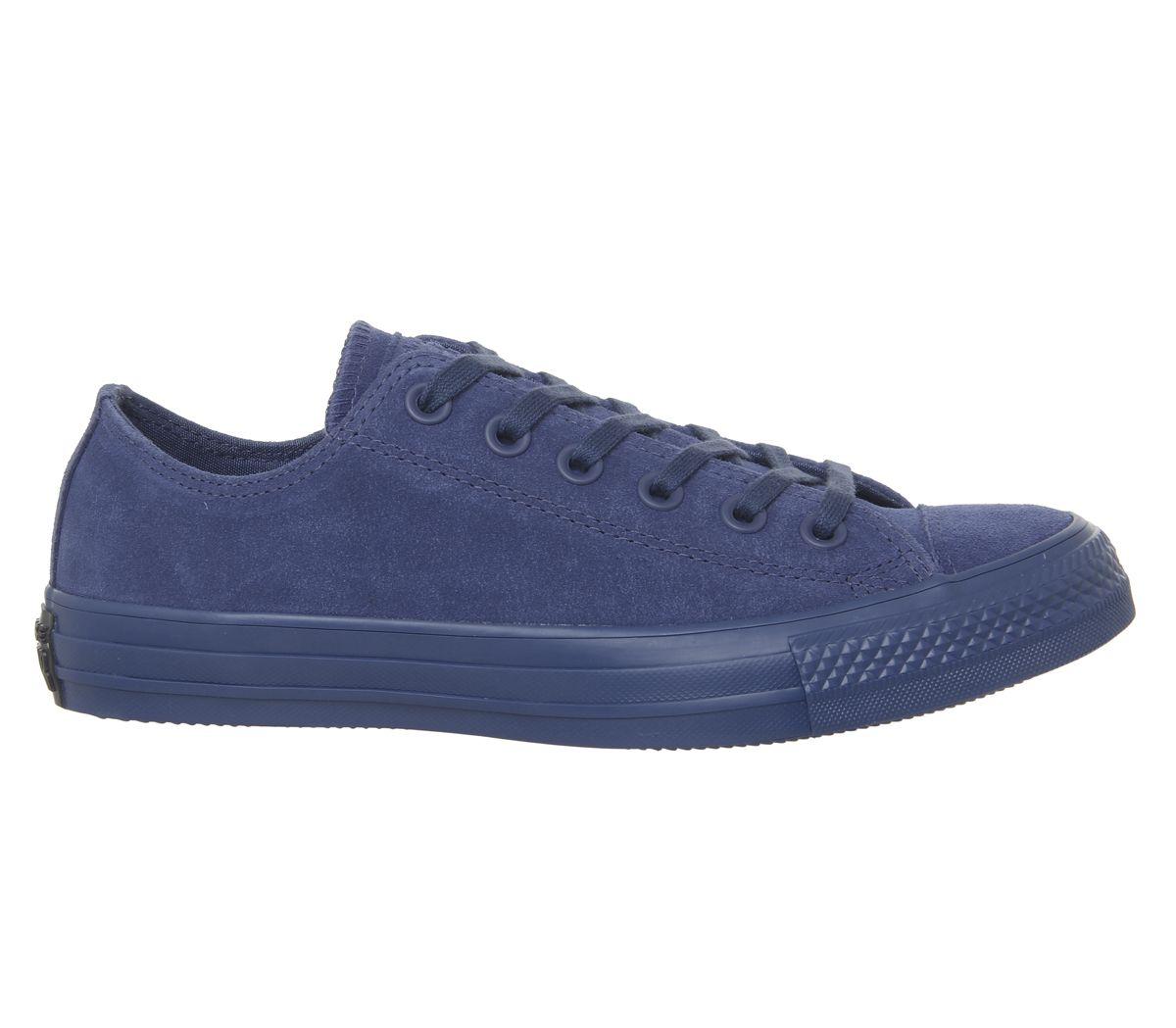 8e1ec3709d Dettagli su Converse Converse Star Basso scarpe da ginnastica All Blu Scuro  Mono Scarpe da ginnastica in pelle scamosciata- mostra il titolo originale