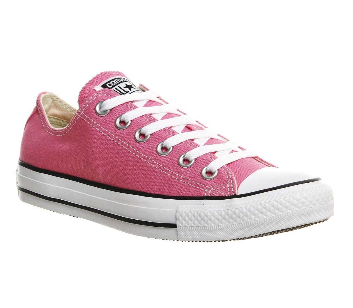 2bd5213705f8 Sentinel Womens Converse All Star Low Pink Canvas Trainers Shoes