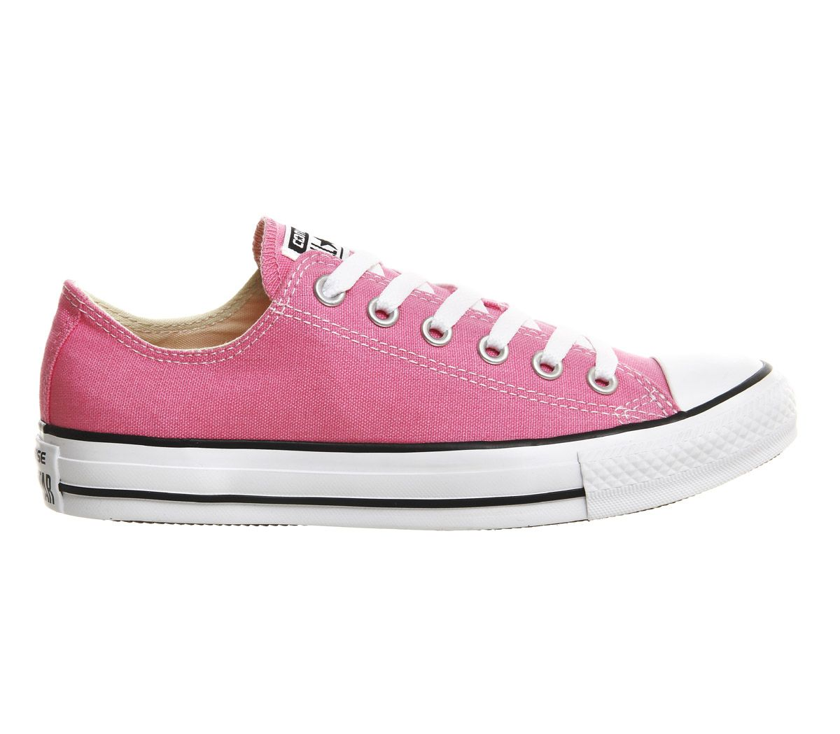 c0850a80198e Sentinel Womens Converse All Star Low Pink Canvas Trainers Shoes