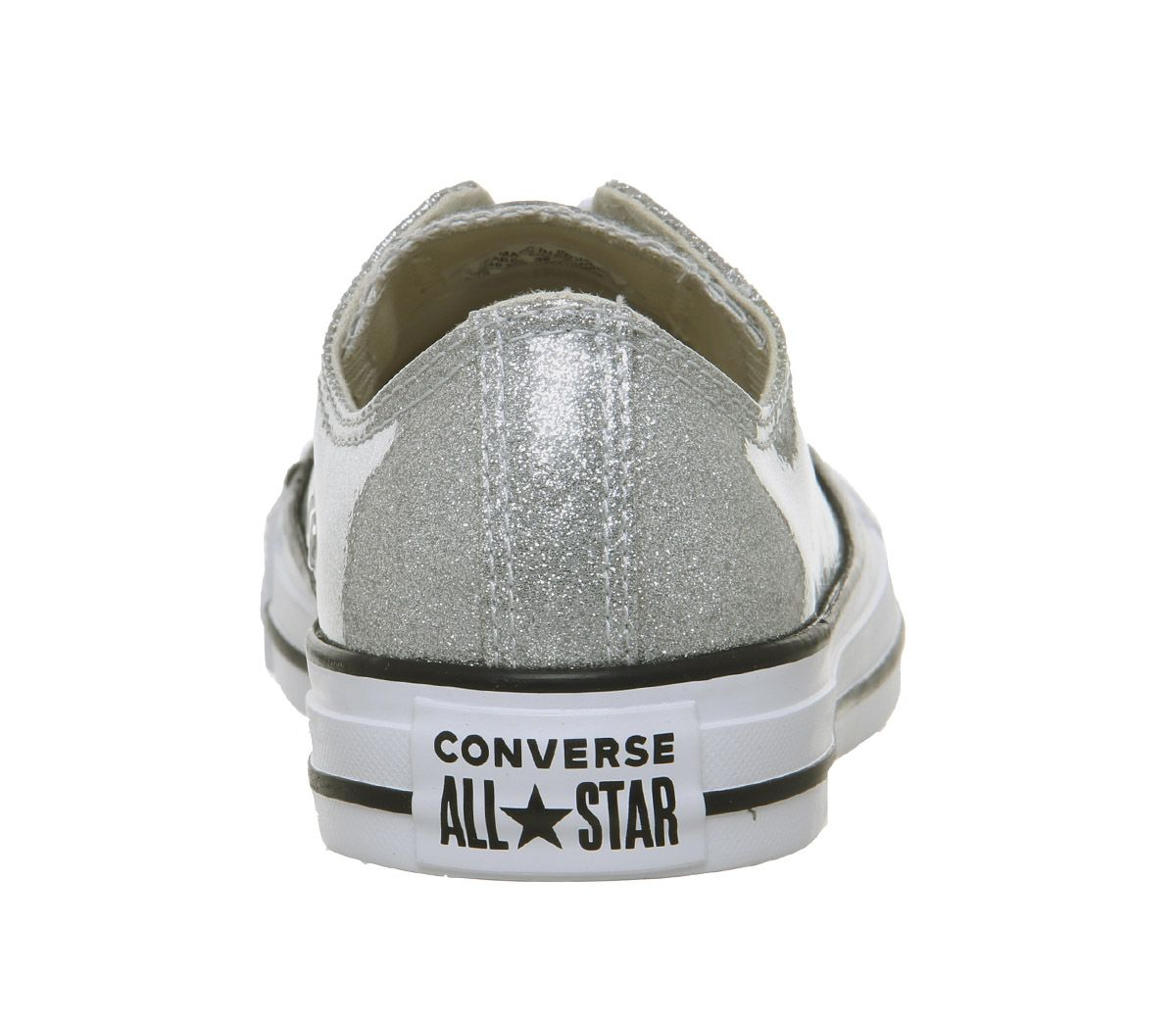 Womens-Converse-Converse-All-Star-Low-Trainers-Silver-White-Trainers-Shoes thumbnail 8