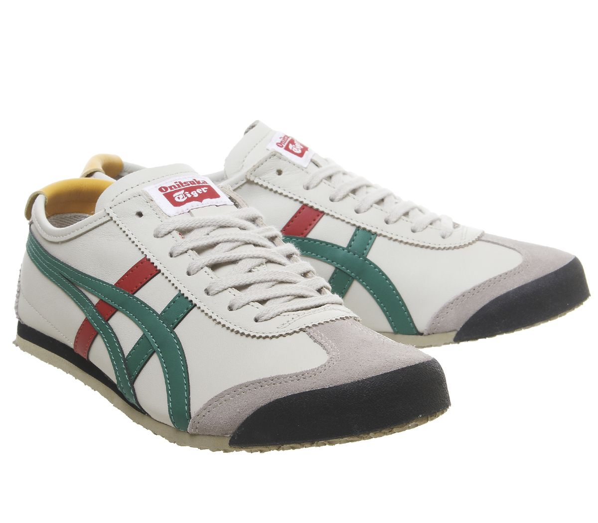 100% authentic f274c 0029d Details about Mens Onitsuka Tiger Mexico 66 Trainers Birch Green Red  Trainers Shoes
