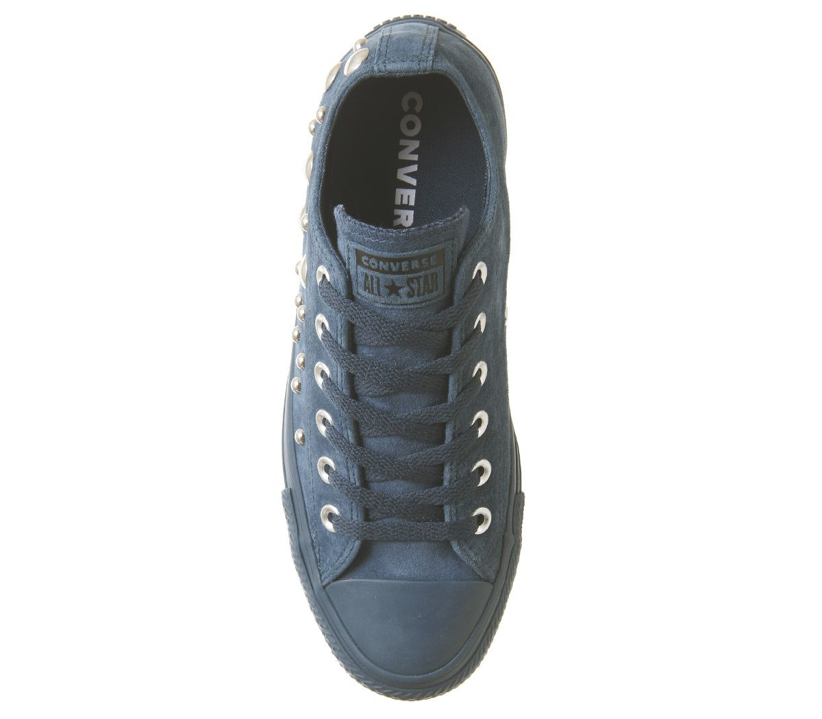 c6565eab179 Womens Converse All Star Low Leather Trainers Blue Fir Multi Studio ...