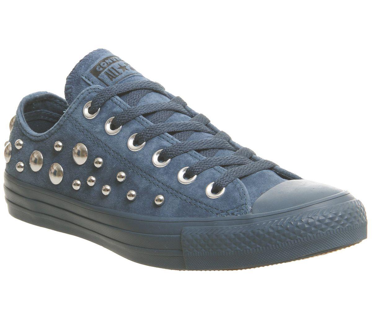 5ca1255e94c Détails sur Chaussures Femme Converse All Star Basses en Cuir Baskets Bleu  sapin Multi Studio Exclusive TR- afficher le titre d origine