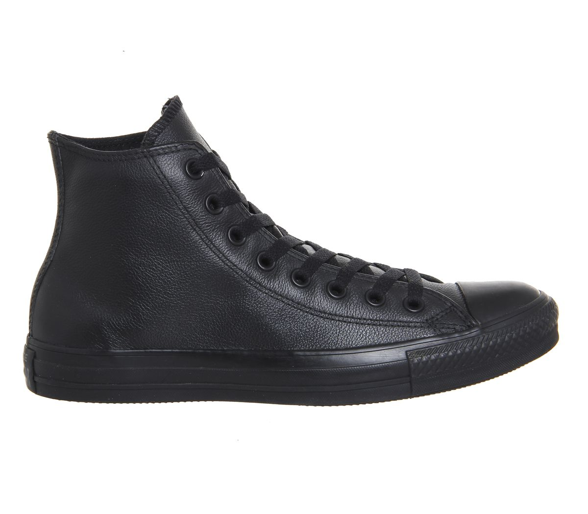 222c48c8a1 Sentinel Mens Converse All Star Hi Leather Black Mono Trainers Shoes
