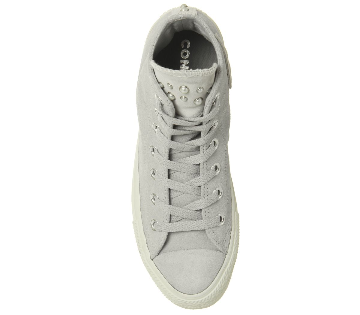 0caa6ac312 Womens Converse All Star Hi Leather Ash Grey Egret Blush Pearl ...