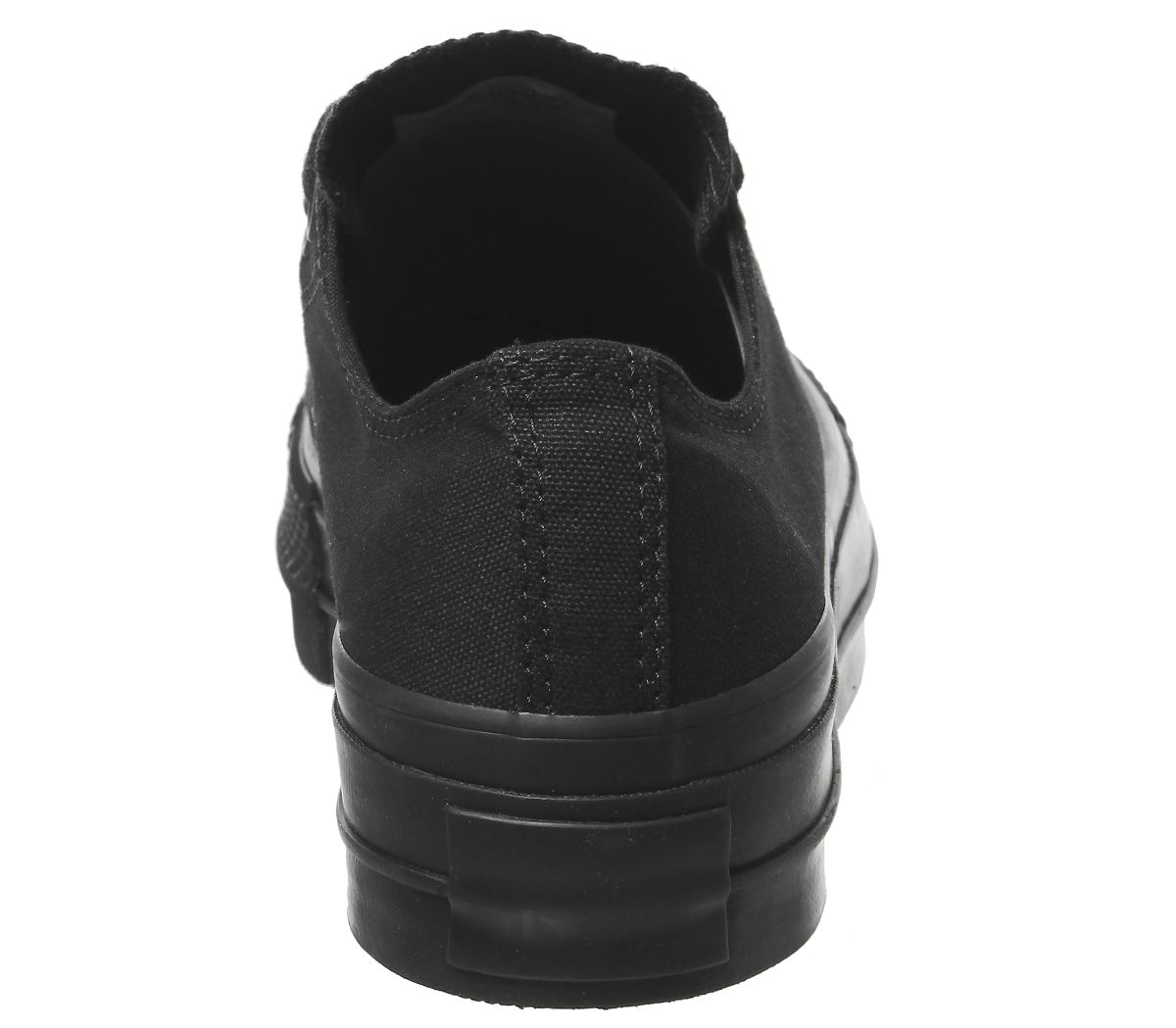 2233ccb33749 Womens Converse All Star Low Platform Trainers Black Mono Trainers ...