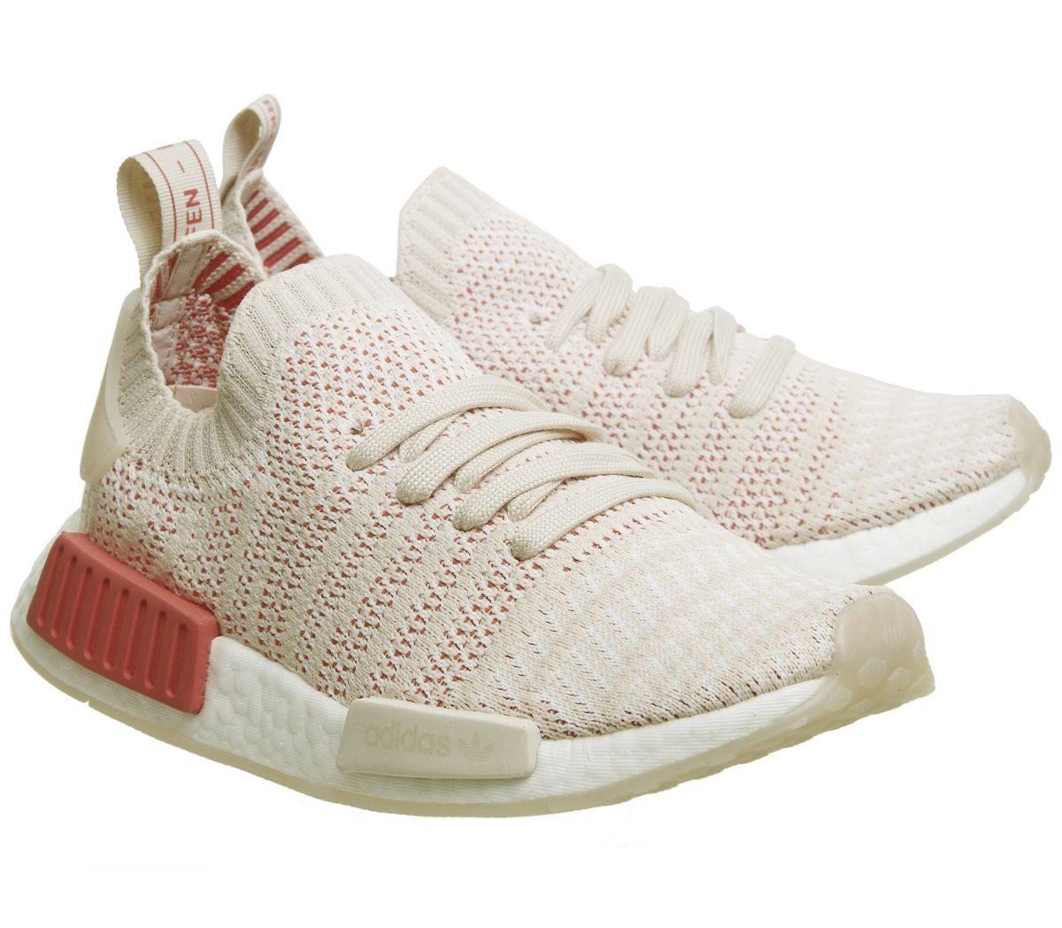 premium selection 9f507 26807 Détails sur Short Femme Adidas NMD R1 Prime Knit Baskets Lin Blanc Cristal  Baskets Chaussures- afficher le titre d origine