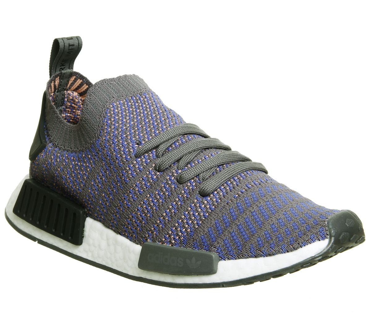 001fcb886 Sentinel Adidas Nmd R1 Prime Knit Trainers Hi Res Blue Black White Trainers  Shoes
