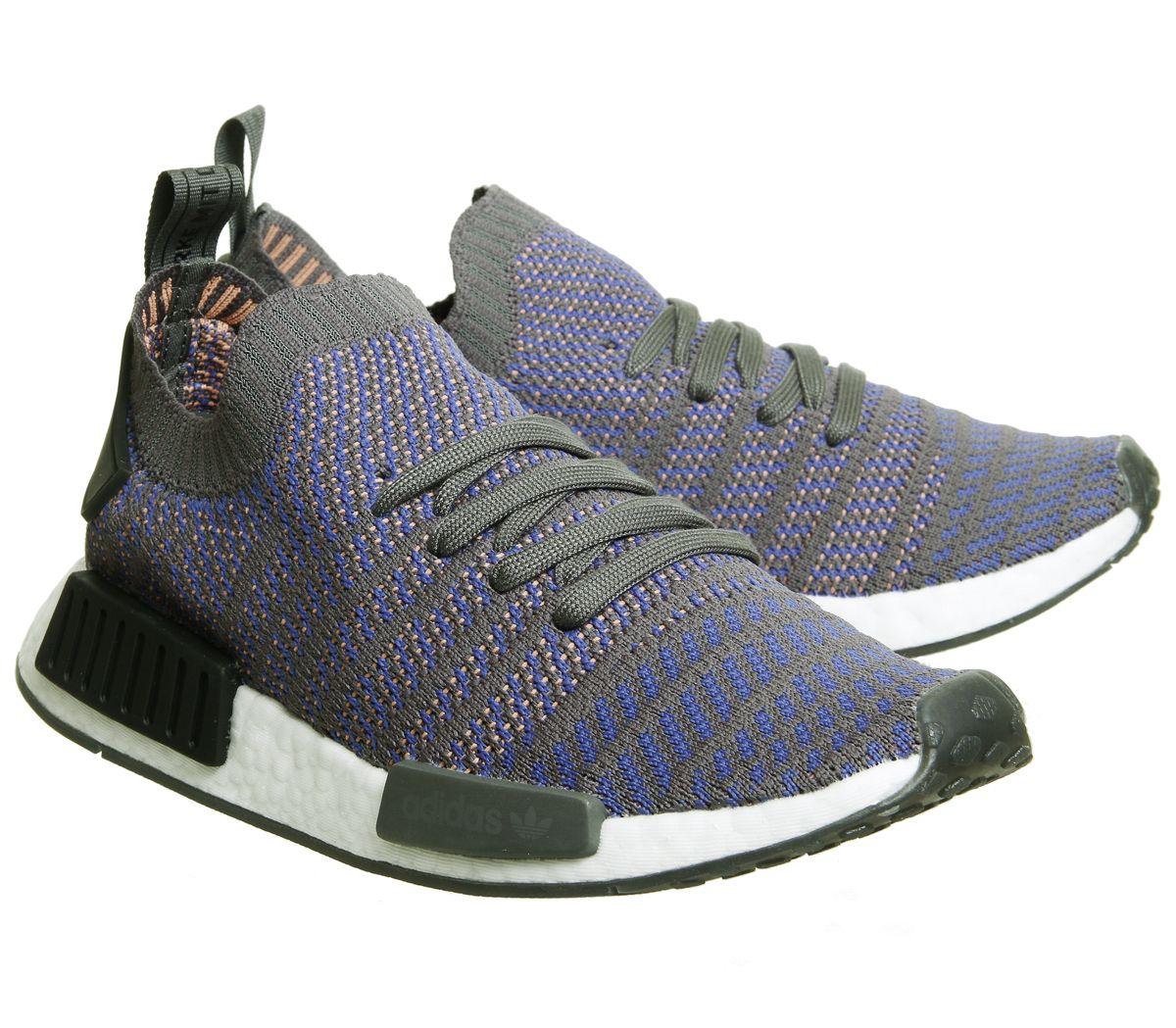 online retailer 62d5d bc249 Sentinel Adidas Nmd R1 Prime Knit Trainers Hi Res Blue Black White Trainers  Shoes