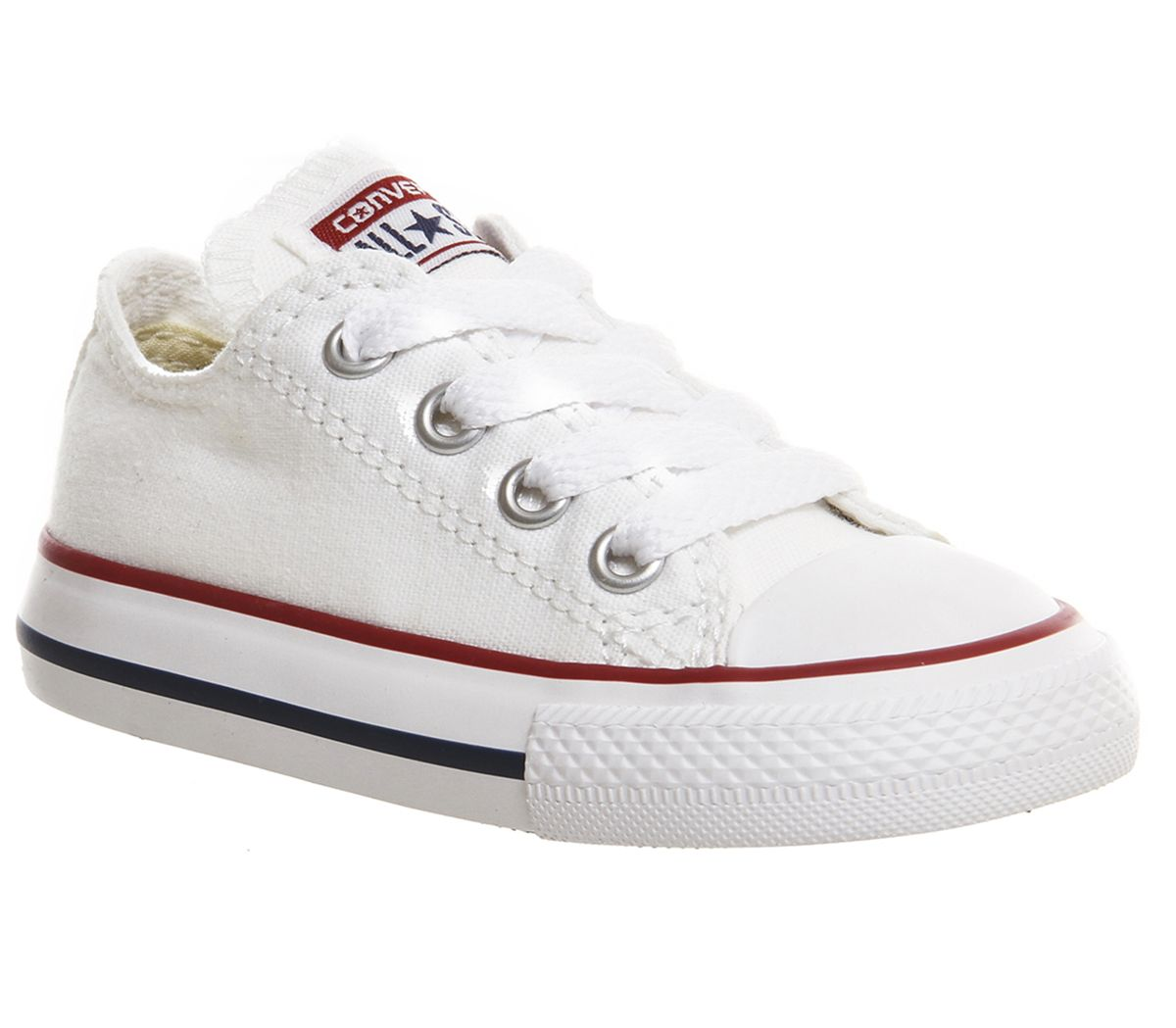 3393fc77849c4 Détails sur Enfants Converse All Star Basse Infant Shoes White Kids-  afficher le titre d origine