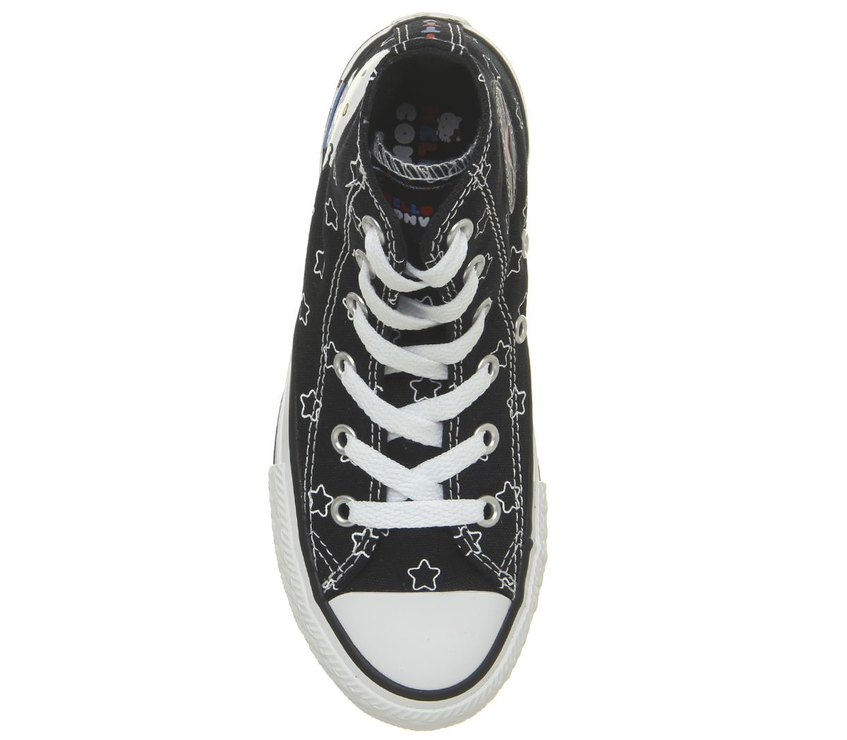 8891e60a286a5e Kids Converse All Star Hi Mid Sizes Black White Directoire Blue ...