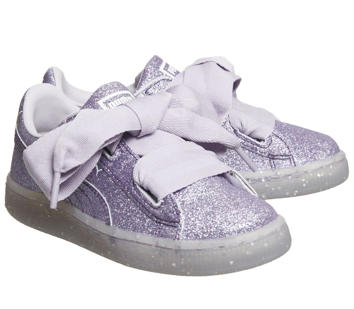 bfd14db40bdf Sentinel Kids Puma Basket Heart Ps Thistle Glitter Exclusive Kids