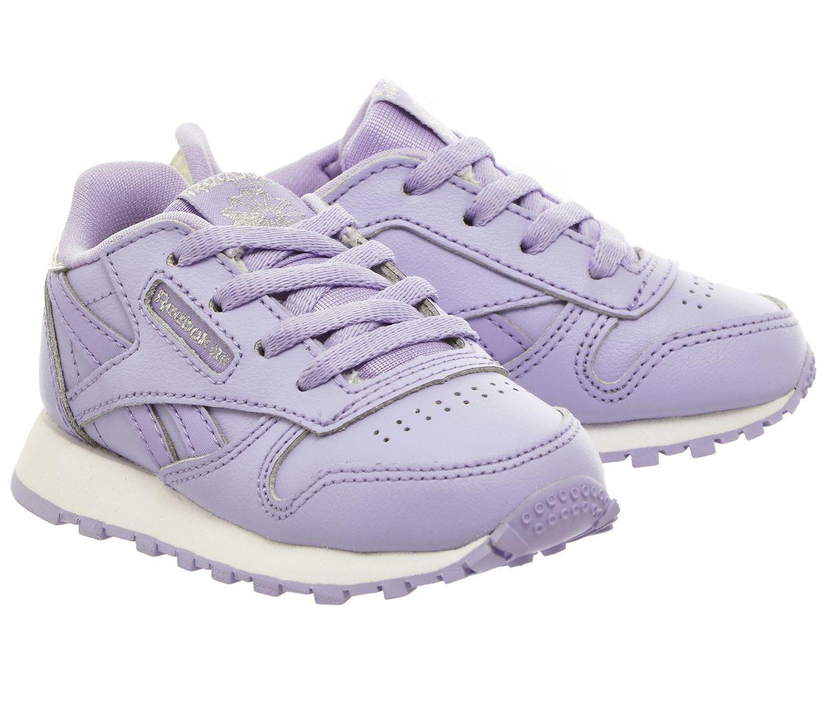 hot sale online e31c8 60d57 Details about Kids Reebok Classic Leather Td Pastel Lilac Glow Kids