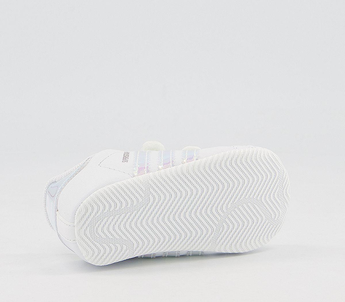 Bambini adidas Superstar Culla Scarpe da Ginnastica Bianche