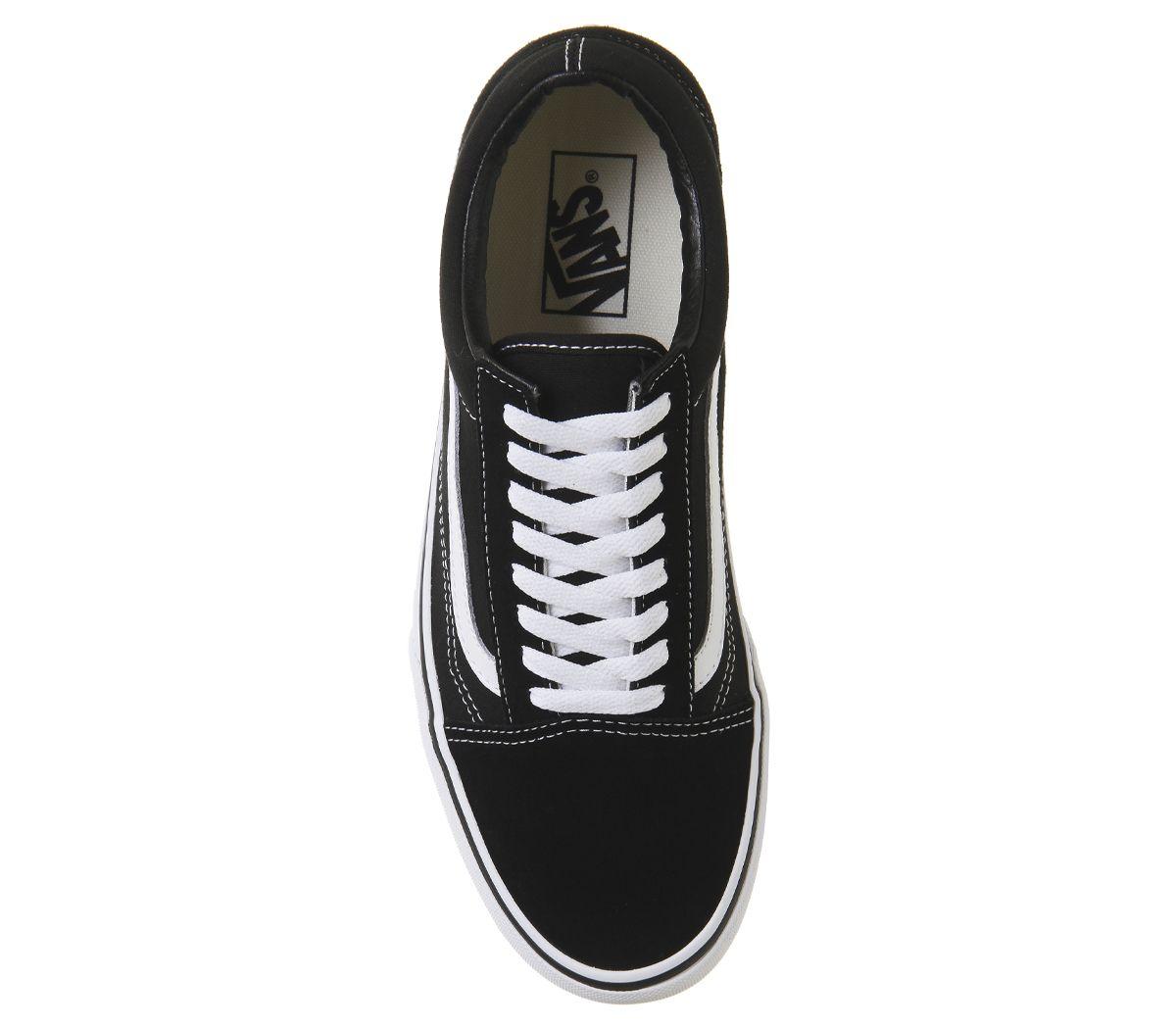 Details zu Womens Vans Old Skool Platform Black White Trainers Shoes
