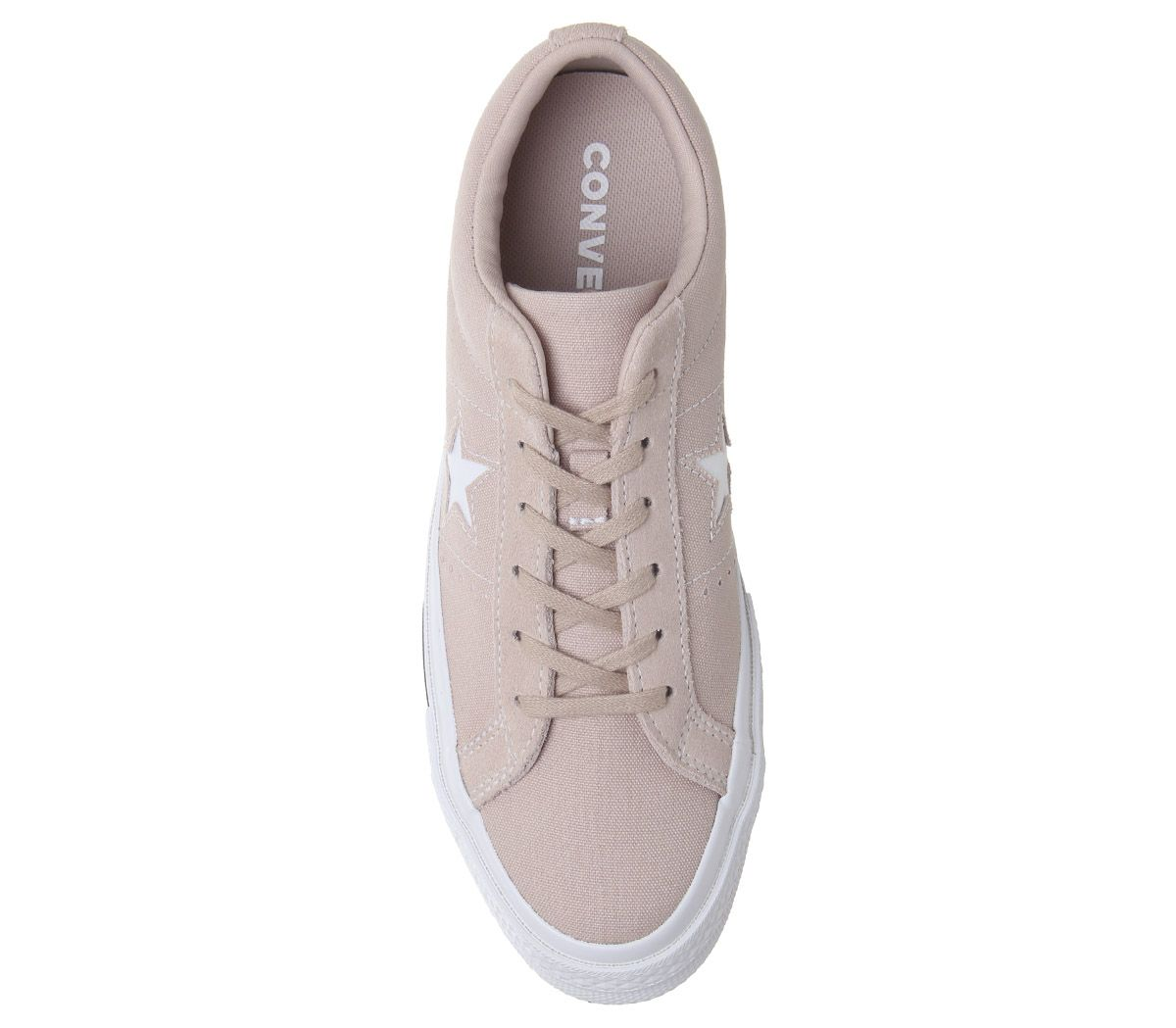 Womens-Converse-One-Star-Trainers-Particle-Beige-White-Black-Trainers-Shoes thumbnail 21