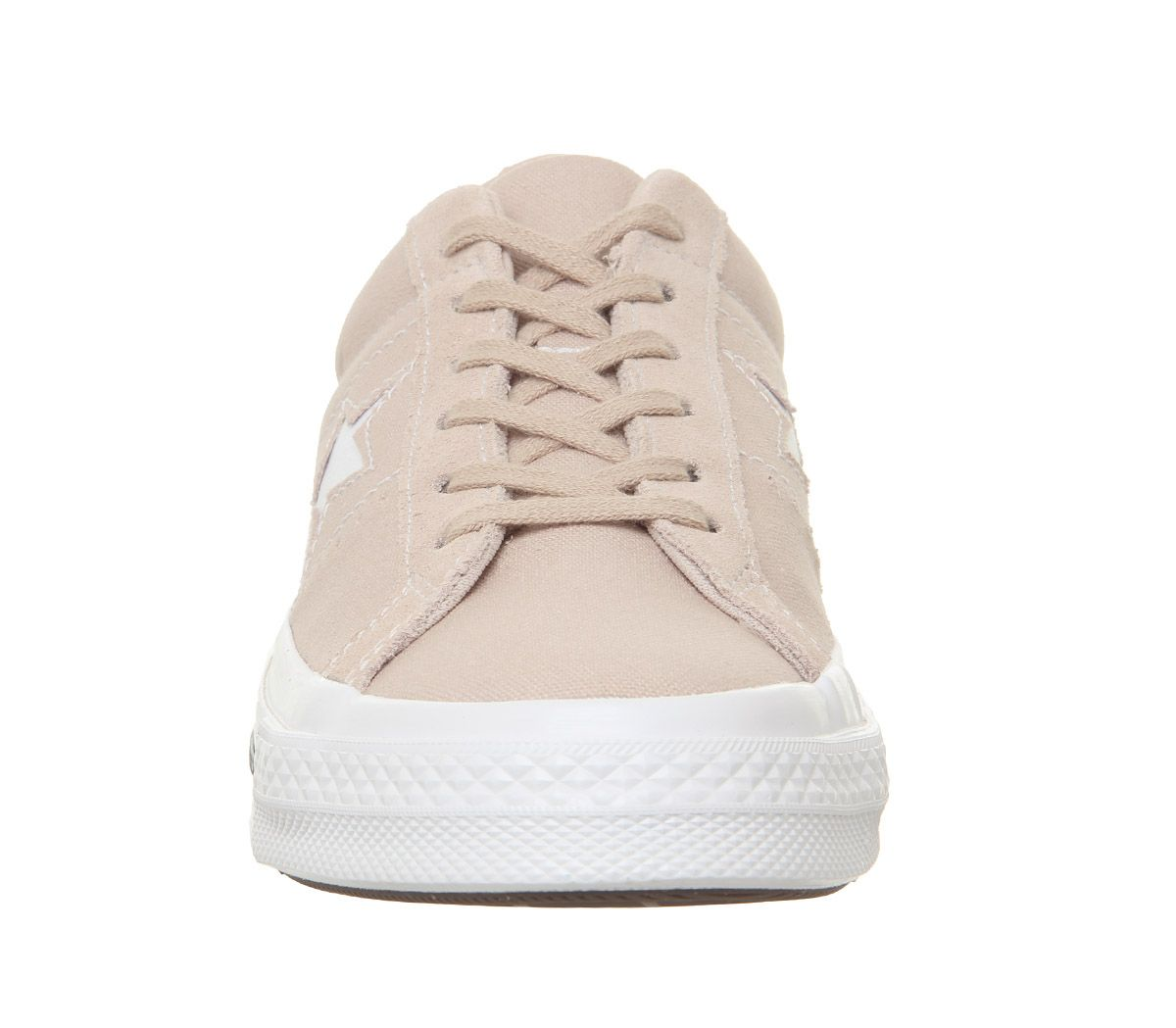 Womens-Converse-One-Star-Trainers-Particle-Beige-White-Black-Trainers-Shoes thumbnail 5