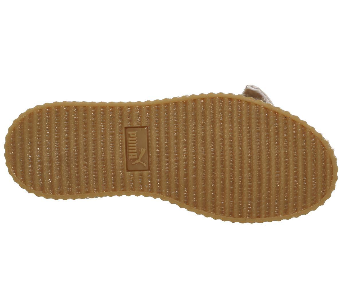 073a9447643 Chaussures-Femme-Puma-Creeper-Ballet-Dentelle-Creme-Fenty-