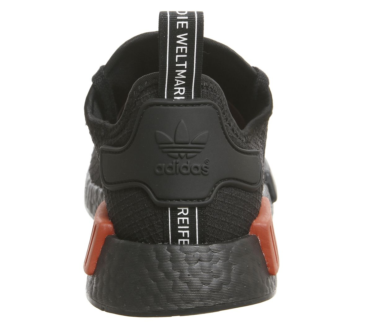 Dettagli su Adidas Nmd R1 Scarpe Sportive Core Nero Caldo Rosso Scarpe da Ginnastica