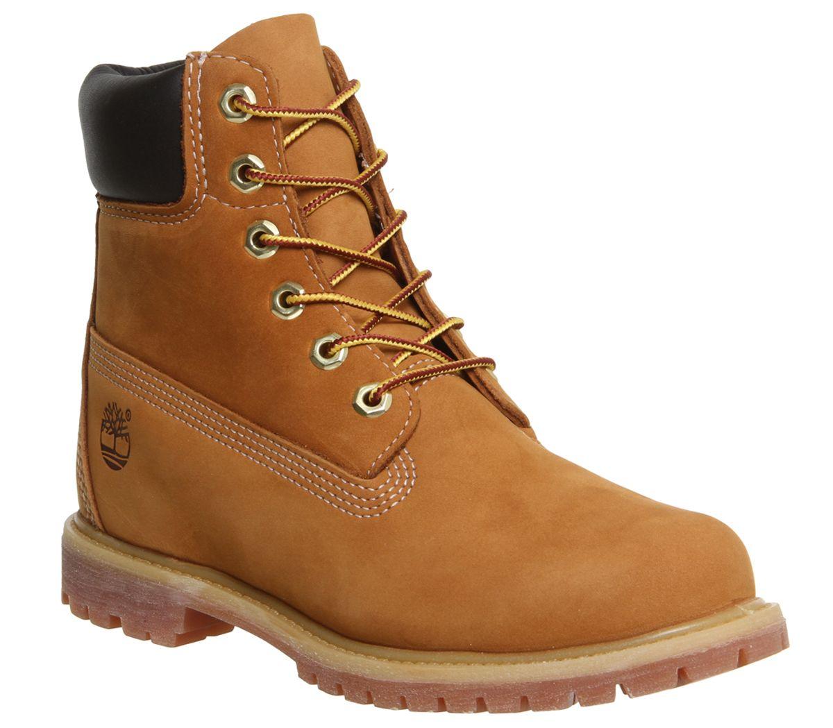 Details zu Damen timberland Premium 6 Stiefel Weizen Nubuk Stiefel