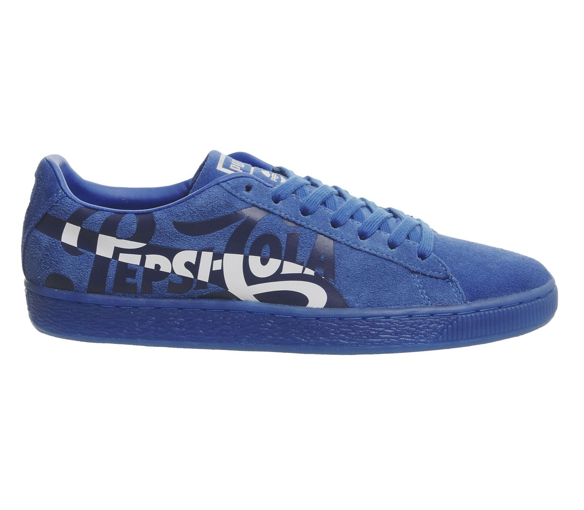 Details about Mens Puma Suede Classic Trainers Pepsi Clean Blue Puma Silver Trainers Shoes