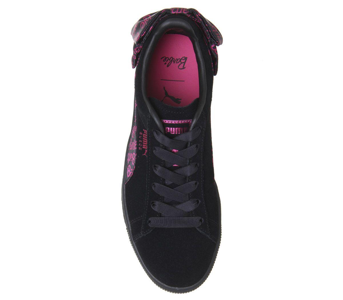 save off bebcd c1c52 Dettagli su Da Donna Puma Suede Classic Scarpe da ginnastica Barbie Team  oro nero Sneakers- mostra il titolo originale