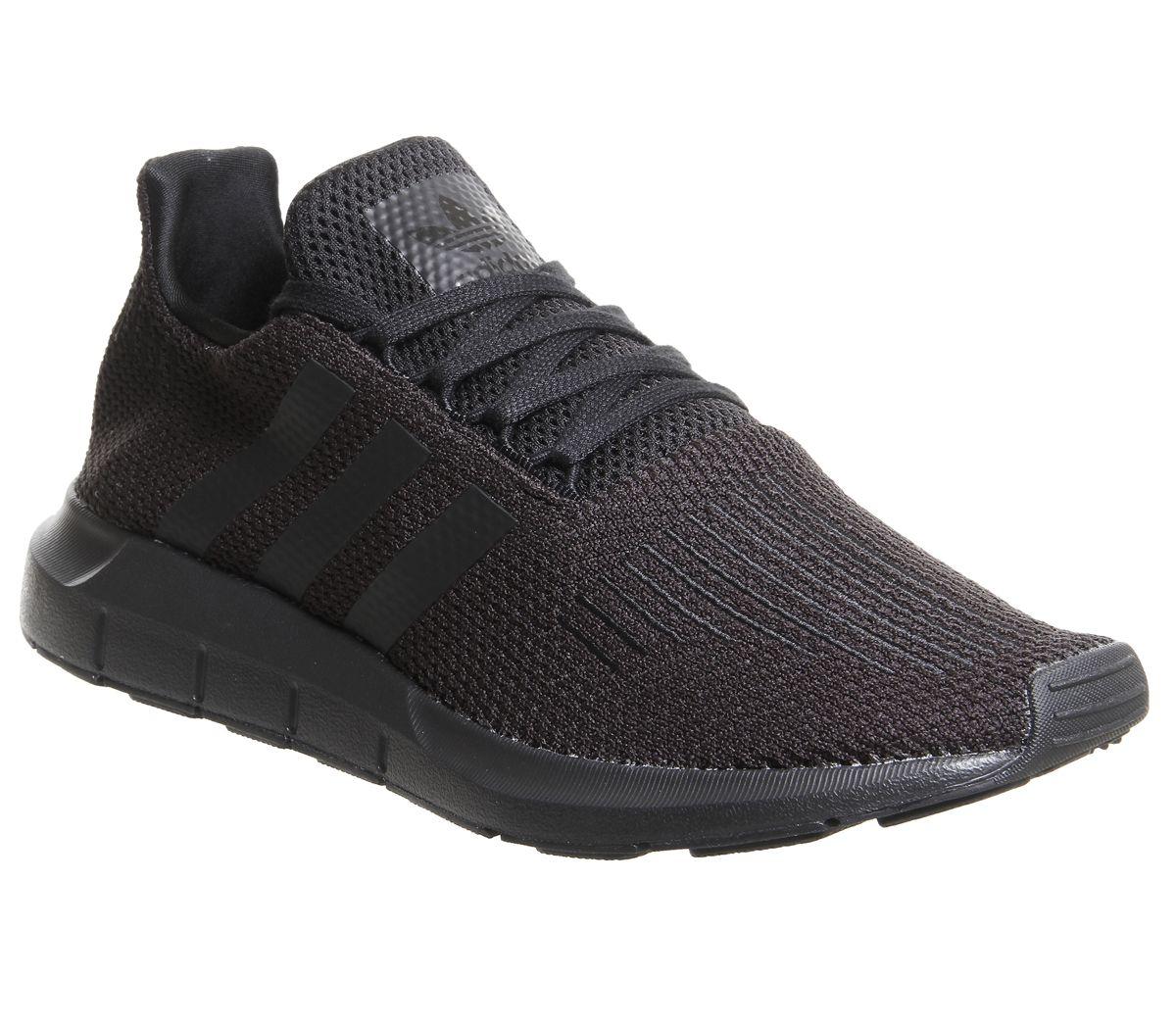 Détails sur Homme Adidas Swift Run Baskets Noir Baskets Chaussures afficher le titre d'origine