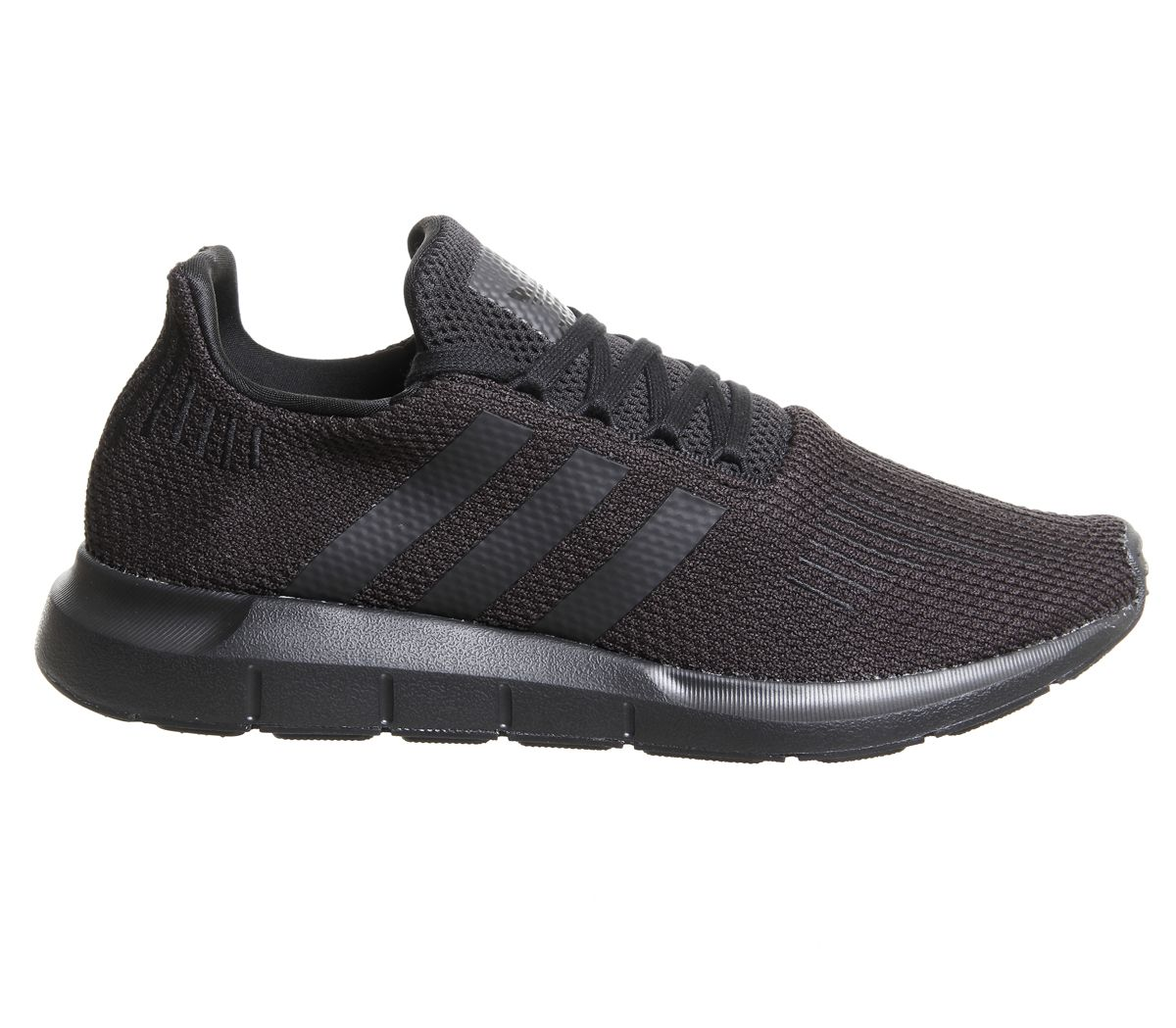 Mens-Adidas-Swift-Run-Trainers-Black-Trainers-Shoes thumbnail 4