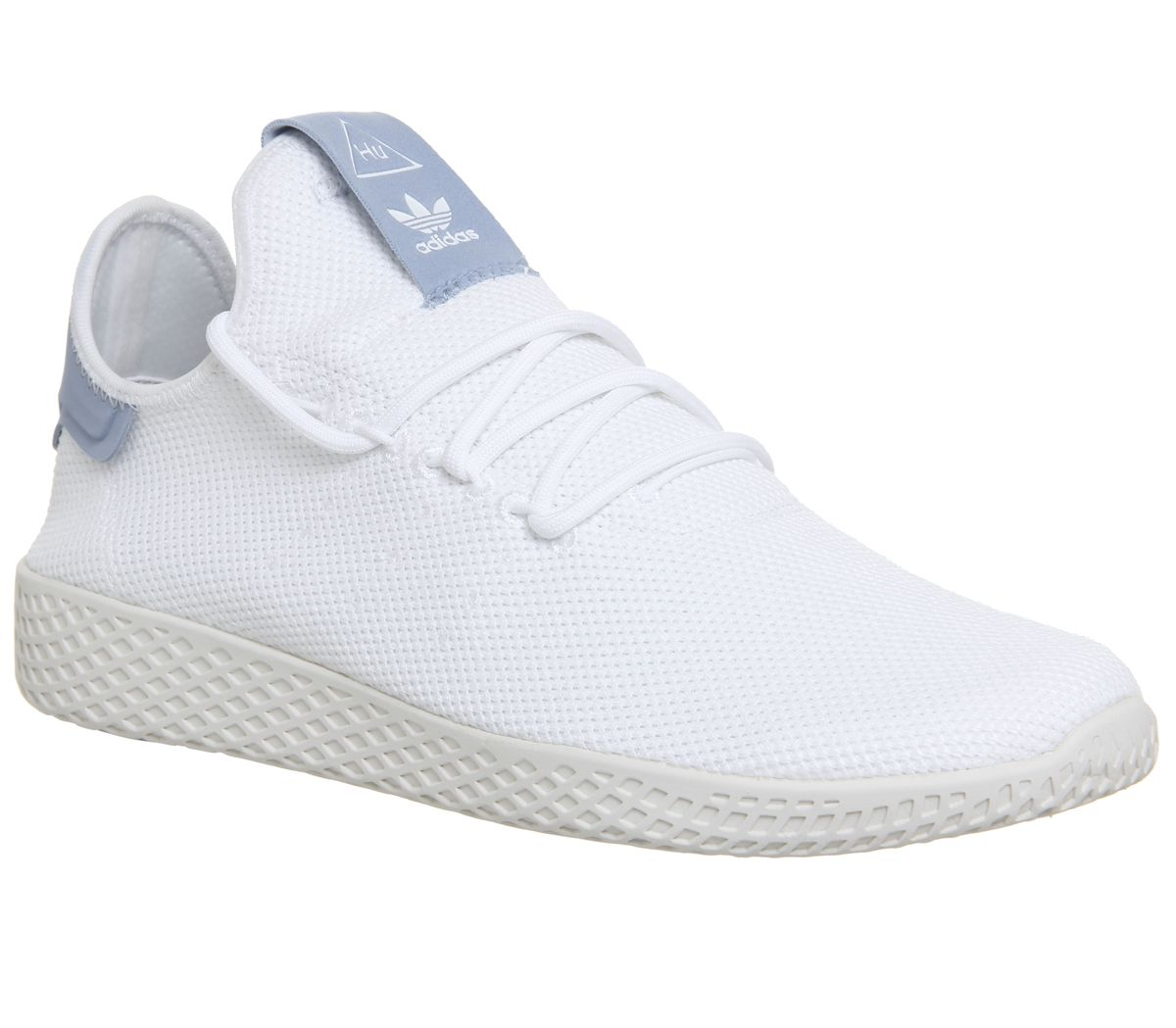 7bff253a0 Sentinel Mens Adidas Pw Tennis Hu White White Blue Trainers Shoes