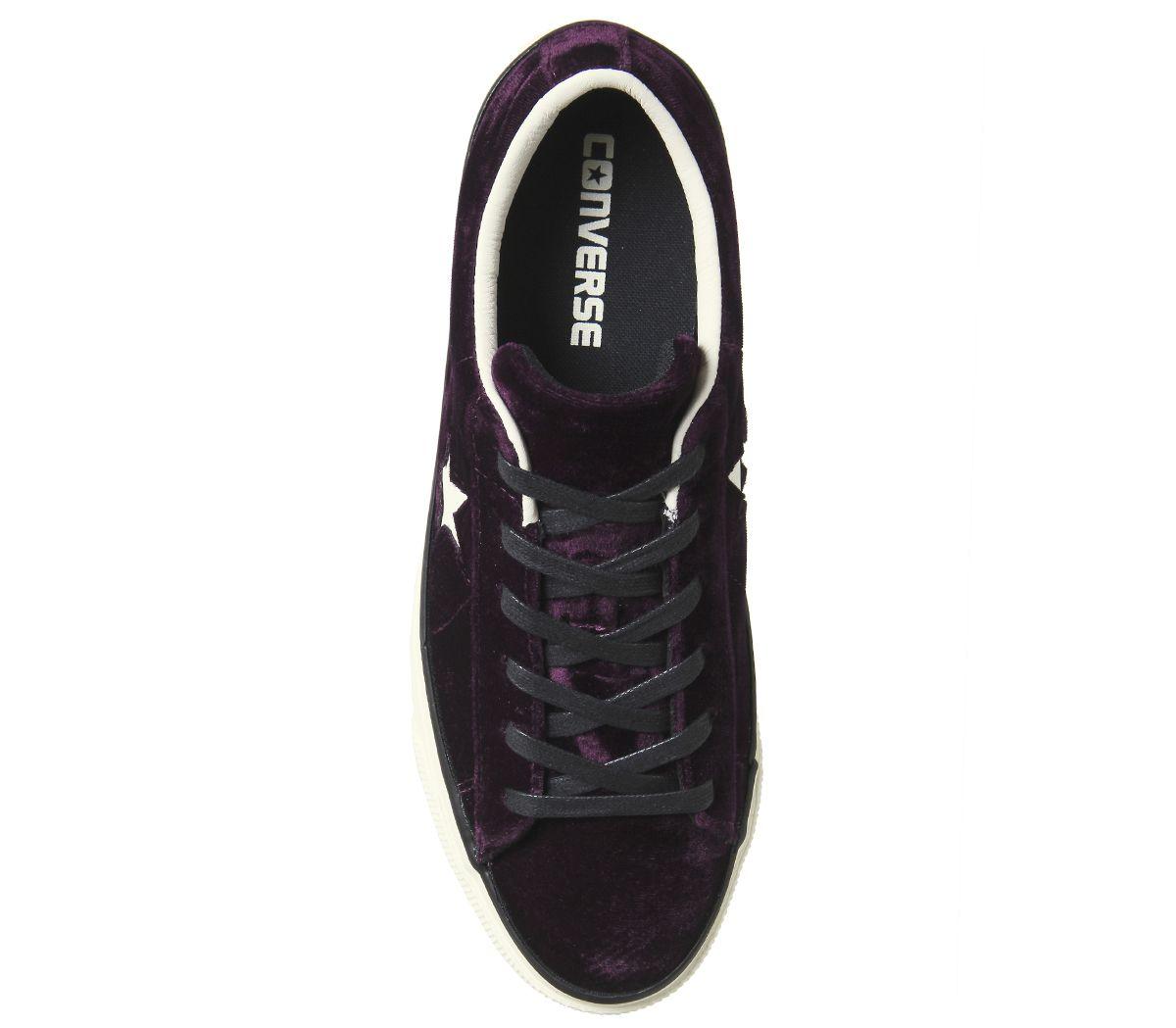 Womens-Converse-One-Star-Platforms-Dark-Sangria-Egret-Velvet-Trainers-Shoes thumbnail 5