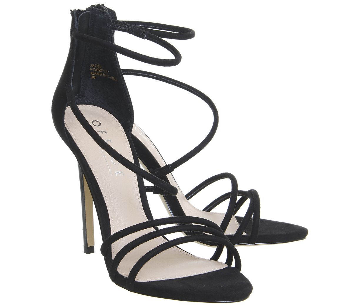 086b44d45 Womens-Office-Harness-Strappy-Sandals-Black-Heels thumbnail 10