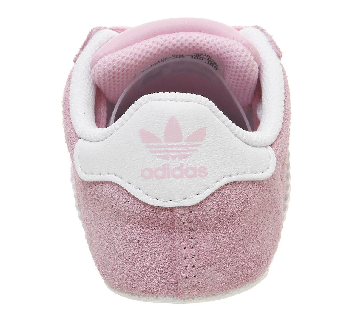 buy popular 30f85 88ddd Bambini-Adidas-Gazzella-Culla-Scarpe-Sportive-Vero-Rosa-