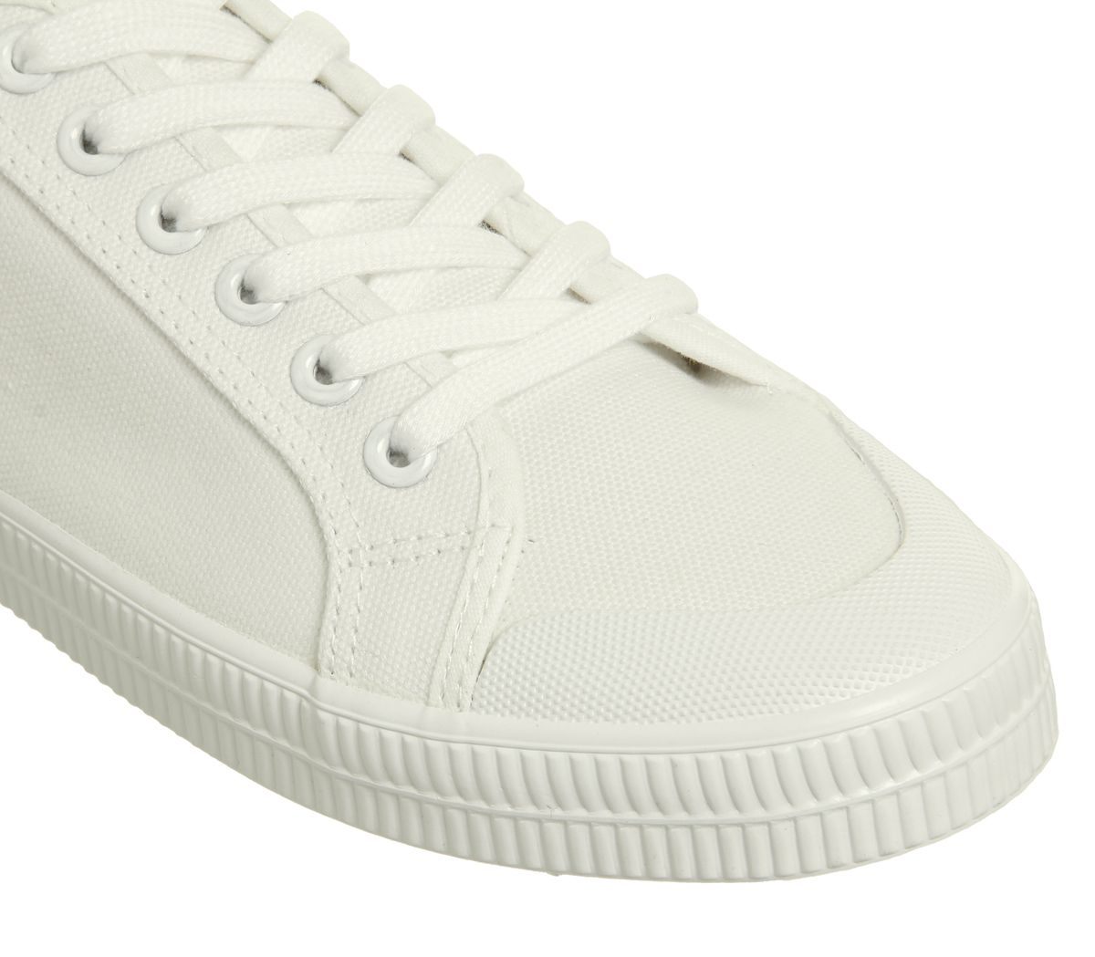 best quality pretty cheap cheaper Détails sur Femmes Office Franklin Embout Coqué à Lacets Tennis Blanche  Chaussures Toile