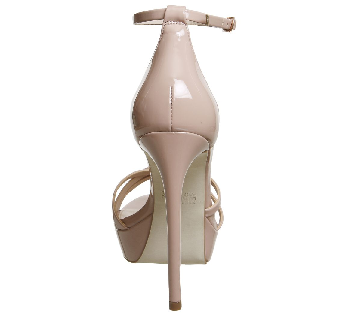 289f7859fc3 Womens Office Hey Day Platform Heel Sandals Nude Patent Leather ...