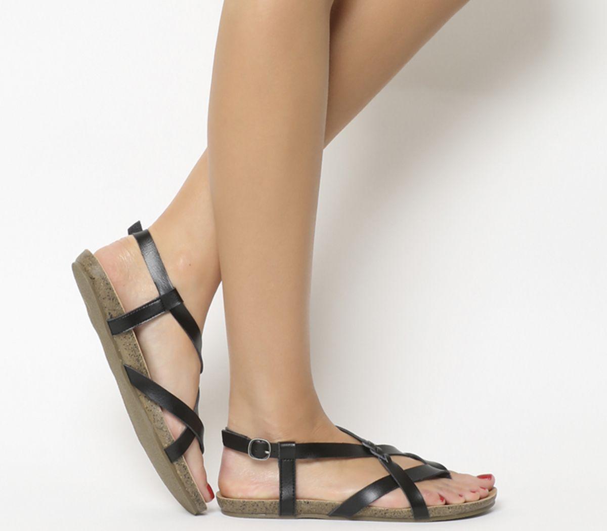 cfab92ca06195 Details about Womens Blowfish Granola B Sandals Black Dye Cut Sandals