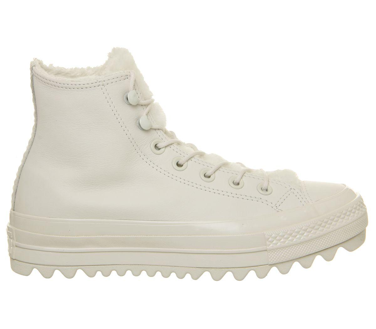 Dettagli su Da Donna Converse Chuck Taylor All Star Lift Ripple Hi Scarpe da ginnastica Vintage Bianco TRAI mostra il titolo originale