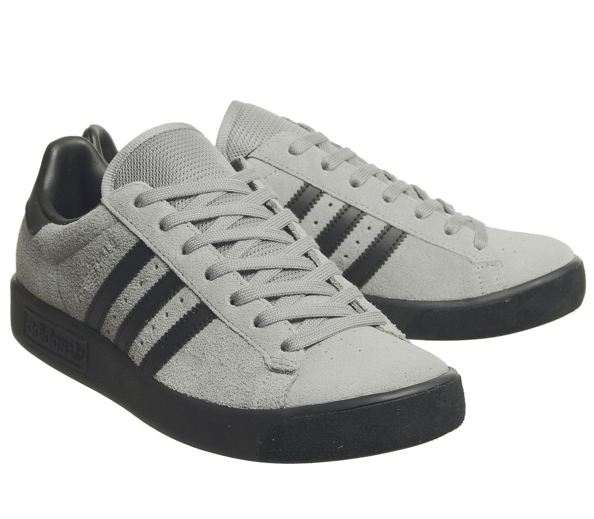 Mens-Adidas-Forest-Hills-Trainers-Grey-Three-Core-Black-Exclusive-Trainers-Shoes thumbnail 7