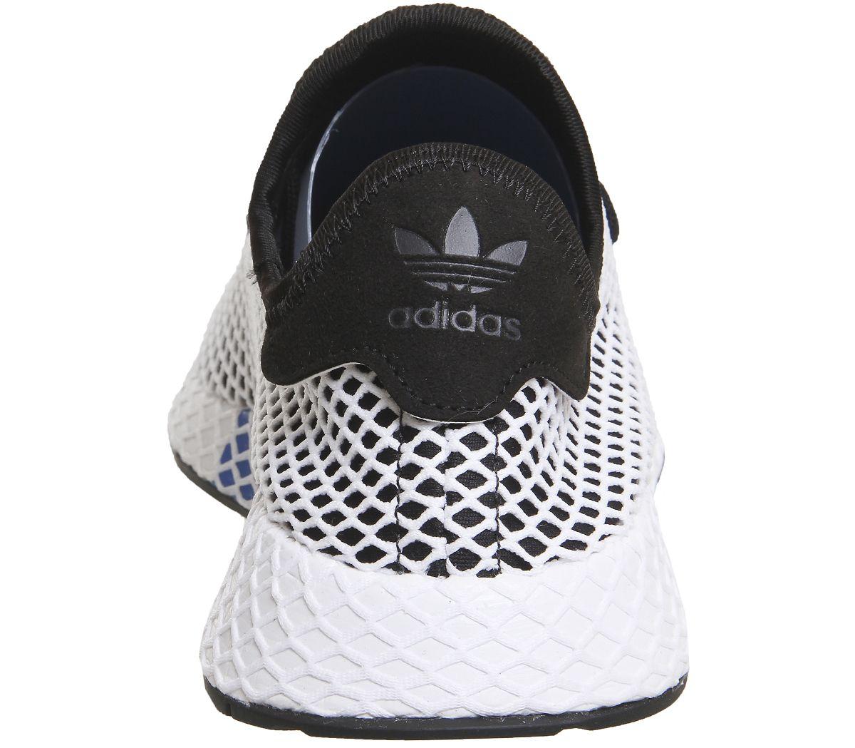 7e76cf8e7 Mens Adidas Deerupt Trainers Core Black White Trainers Shoes
