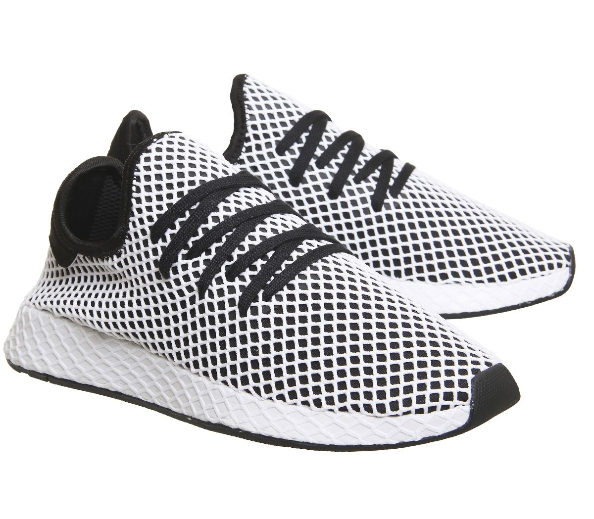 9589f3765 Sentinel Mens Adidas Deerupt Trainers Core Black White Trainers Shoes