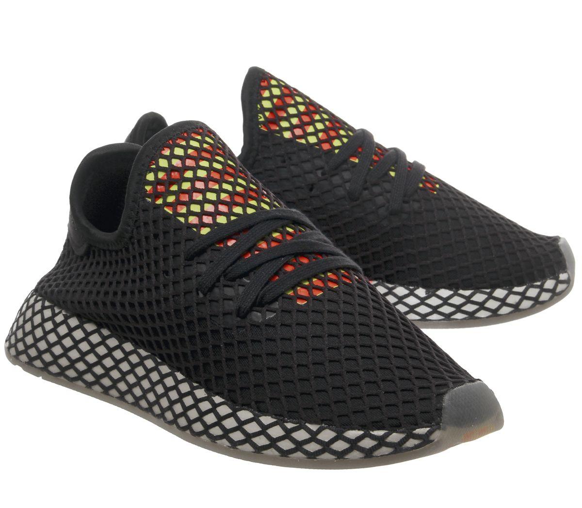 Mens-Adidas-Deerupt-Trainers-Core-Black-Sesame-Trainers-Shoes miniature 7