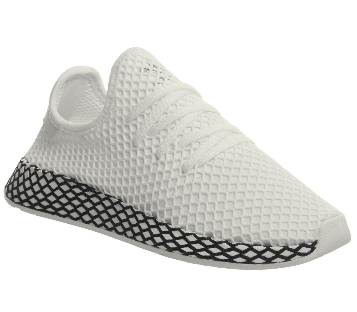 Dettagli su Da Donna Adidas deerupt Scarpe da ginnastica White White Scarpe  da ginnastica Core Black- mostra il titolo originale